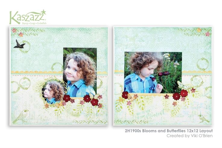 2H1900s Blooms and Butterflies 12x12 Layout