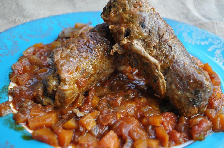 Bragoli (Beef Olives) - (Maltese food, Maltese recipes, Maltese Cuisine)