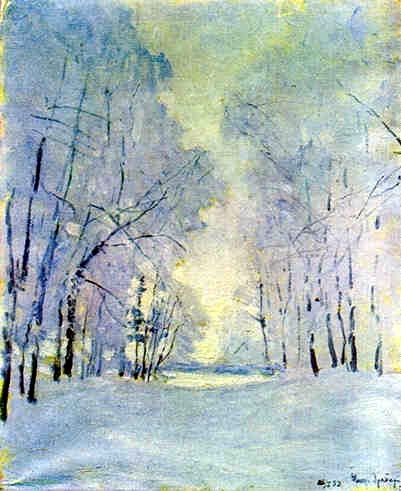 "Igor Grabar (1871-1960), ""Hoar Frost"".  Igor is a Russian post-impressionist painter."