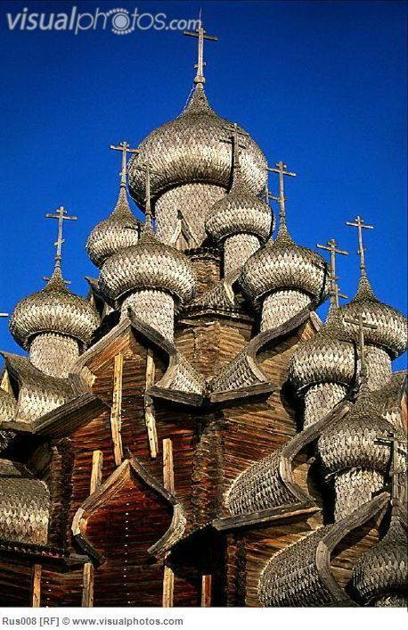 onion dome russia | ... europe grey kiji island onion dome russia transfiguration church wood