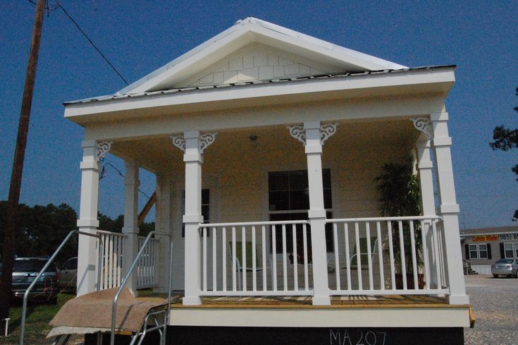 manufactured homes porch | ... Calvin Klein Homes Mobile Home the front Porch Design for Mobile Homes