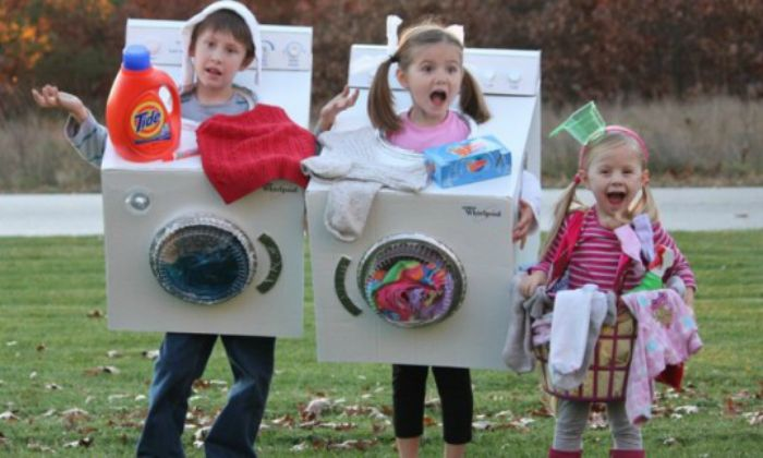 Washing machine and dirty laundry DIY Halloween costumes! Description from pinterest.com. I searched for this on bing.com/images