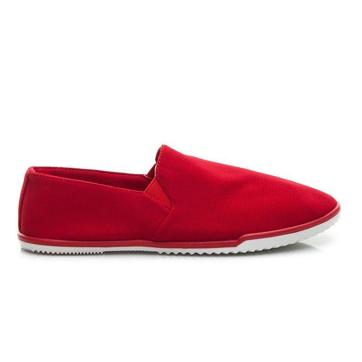 ELASTYCZNE SLIP ONY - odcienie czerwieni > CzasNaButy.pl > buty i torebki