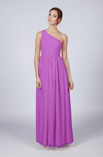 Long One Shoulder Bridesmaid Dress    Purple wedding | lavender wedding | purple bridesmaid dresses | lavender Bridesmaid dresses | purple bridal party