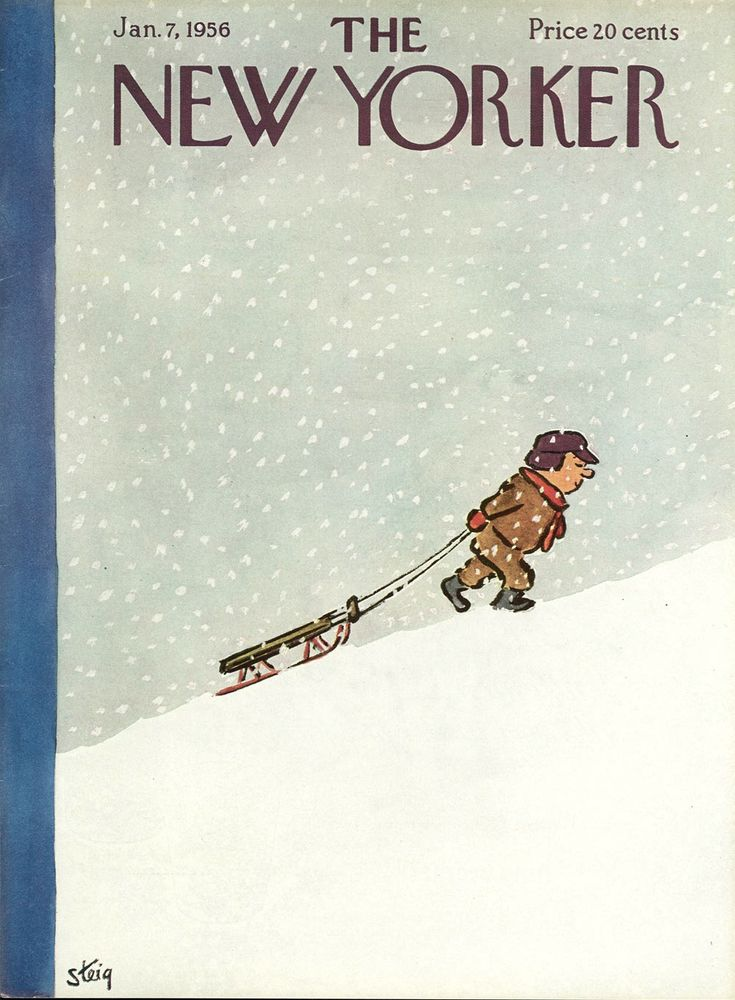 An illustrated homage to snow, as told through a century of New Yorker covers.