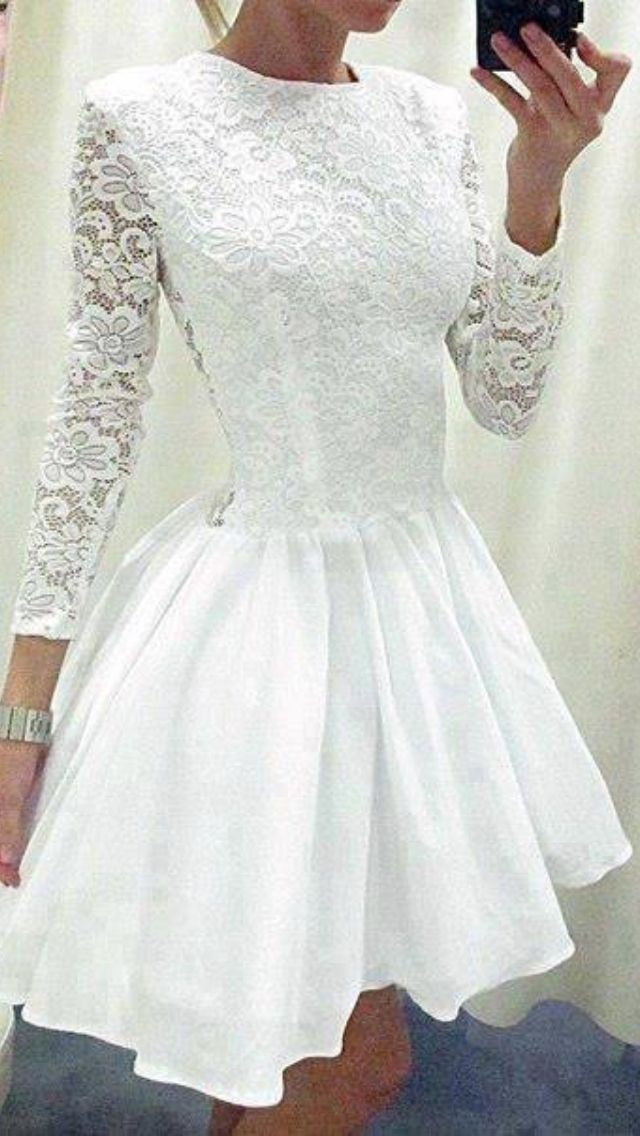 White, lace, short and flirty