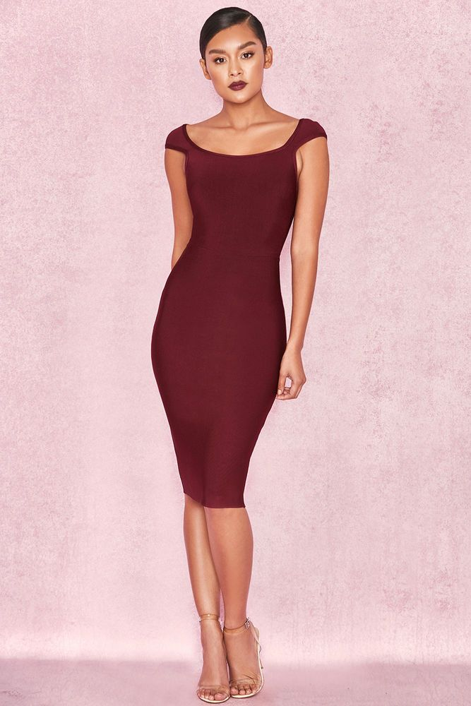 11881fbad5f HOUSE OF CB  Anelle  Wine Bandage Dress S 8   10 SG 121  fashion  clothing   shoes  accessories  womensclothing  dresses (ebay link)