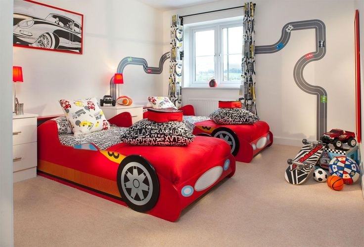 Boys car bedroom