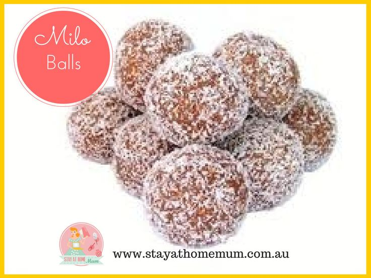 Milo Balls!!!! Twelve More Weeks of Freezable School Snacks | Stay at Home Mum