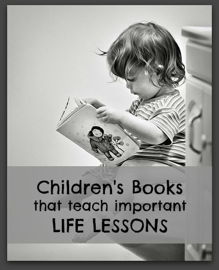 MUST PIN!  Fantastic list of kids books that teach great lessons.  For those hectic days when story time might be the only time the kiddos actually learn something!