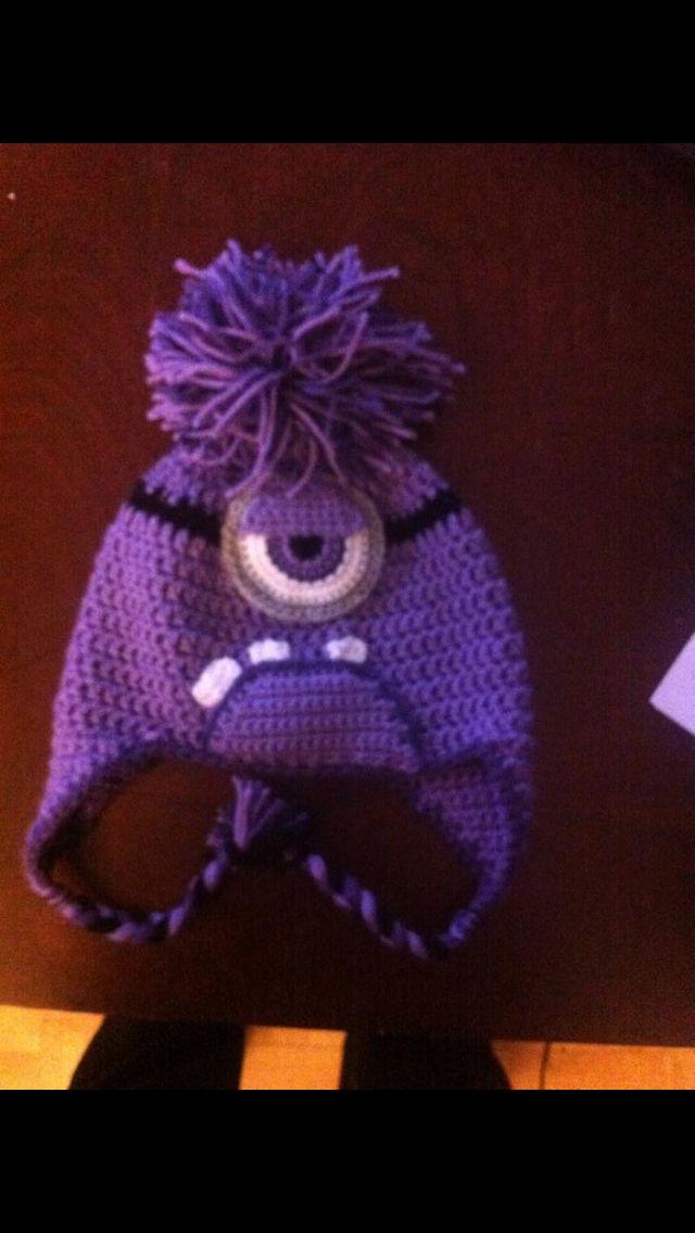 Crochet Purple minion hat