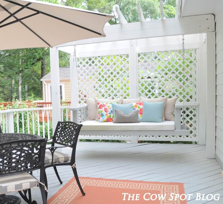 The 25+ Best Ideas About Porch Swing Beds On Pinterest | Porch ... 15 Tolle Handgemachte Veranda Schaukel Designs