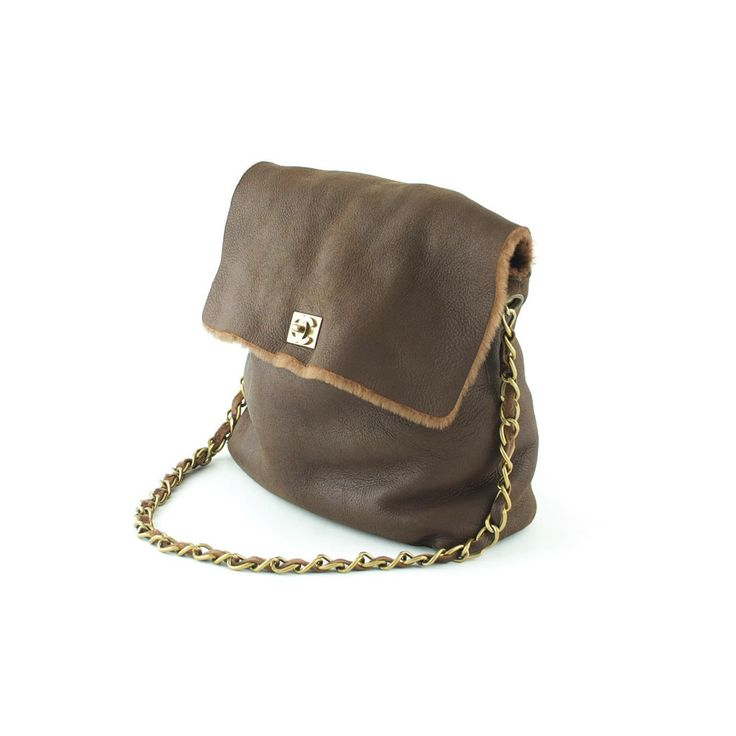 Authentic Chanel Brown Soft Lambskin Leather Shoulder Bag at THEBROWNPAPERBAG.NET #authentic #vintage #parisian #luxury #chanel