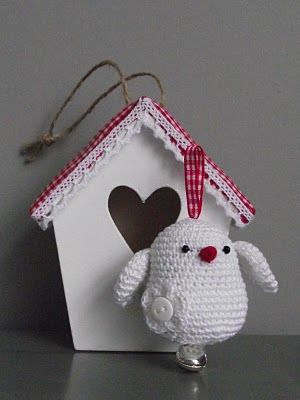 Vogeltje...       ♪ ♪ ... #inspiration_crochet #diy GB http://www.pinterest.com/gigibrazil/boards/