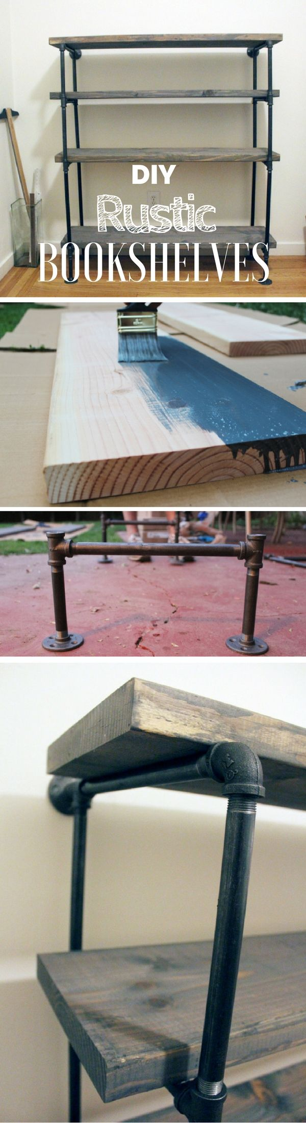 Check out how to build these DIY industrial rustic shelves at home @istandarddesign