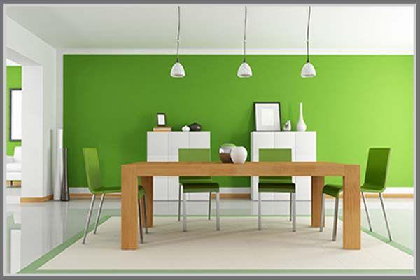 Soft yet calming, green can be your home dining room interior design idea! http://edupaint.com/interior/ruang-makan/9792-nyaman-di-ruang-makan-hijau-pastel.html #HiyotoIdea #homedesign #homedecor #housedesign #housedecor #interiordesign #diningroom