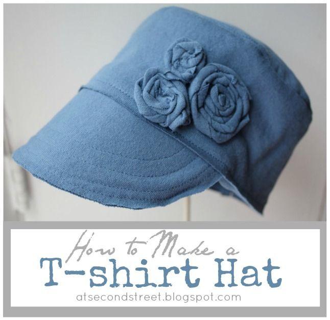 TUTO pour une casquette en T-shirt... J'adore ! Voir sur le blog différentes version, dont plusieurs pour enfants...