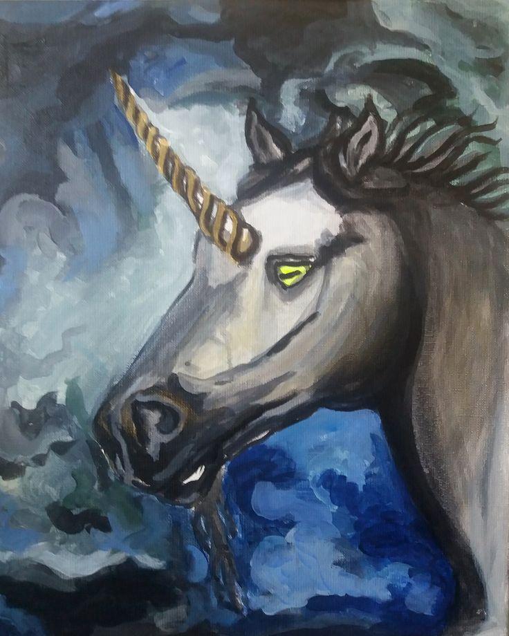 Unicorn Nightmare Acrylic on canvas 2016