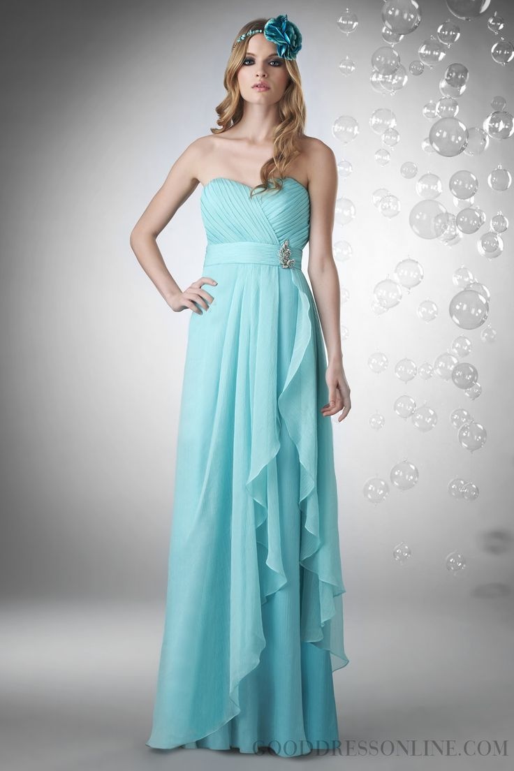 2015 Classy A-line Floor-length Sweetheart Chiffon Bridesmaid Dresses