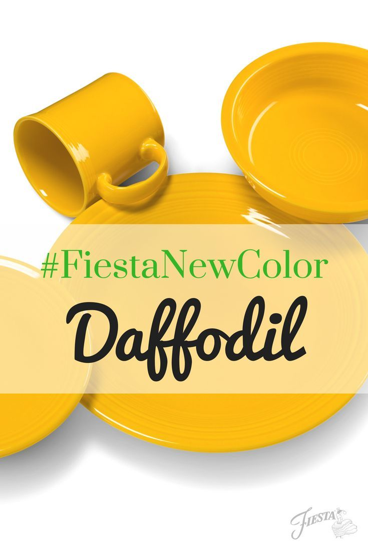 Fiesta Dinnerware introduces its new color for 2017 - Daffodil! Available mid-June 2017 at retailers nationwide and http://www.fiestafactorydirect.com. Learn more at http://www.alwaysfestive.com