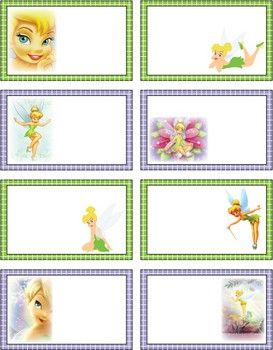 {Free} printable Tinkerbell labels