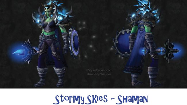 Stormy Skies #shaman #transmog for #worldofwarcraft!  Check out my blog for more!  stylezbycent.com #wow