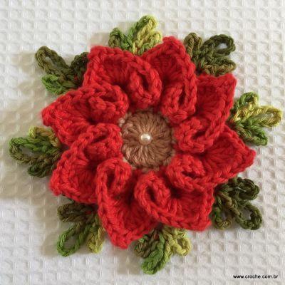 Flor coração passo a passo - croche.com (89)