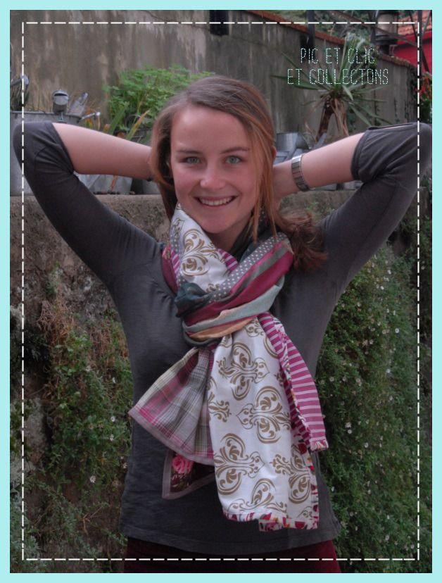 chèche foulard écharpe , 6 couleurs de saison, fluide et doux : Echarpe, foulard, cravate par pic-et-clic-et-collectons