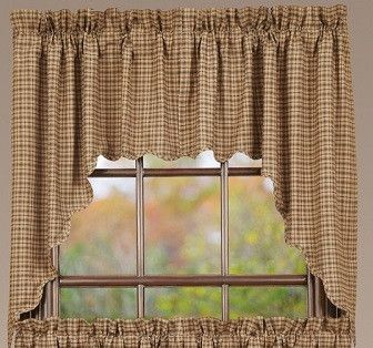 Millsboro Scalloped Lined Swag Curtains Our Primitive Country Are You Will Get A Set Of Two For Total Wide Across Your Window