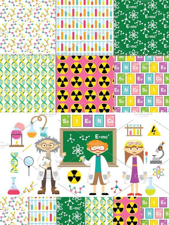 Science Clipart Vector Digital Paper Clip Art Digital Paper