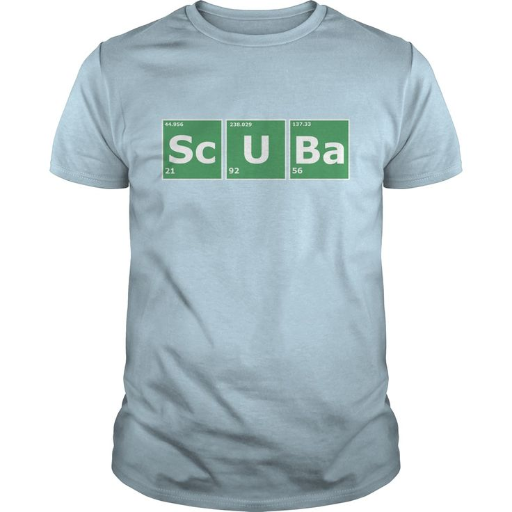 Scuba periodic table. Cool, Clever, Funny Outdoor Quotes, Sayings, T-Shirts, Hoodies, Sweatshirts, Tees, Clothing, Coffee Mugs, Gifts.
