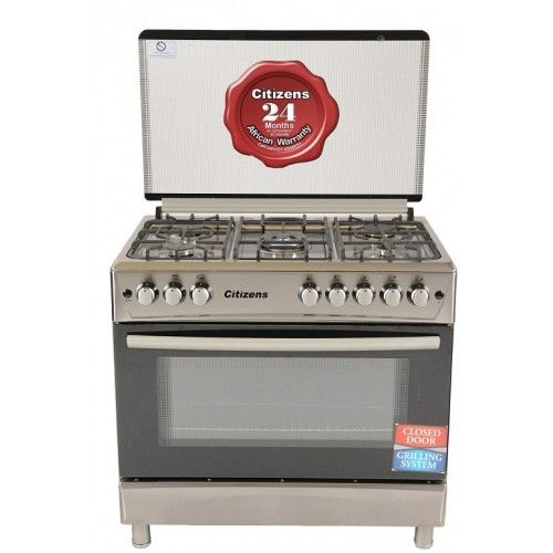 Citizens CF-9050-INOX 90 x 60 Free Standing Gas Cooker 5Gas Inox  Imperial