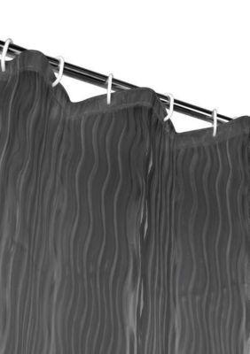 Dainty Home  Milan 3D Vinyl Shower Curtain Liner - Black - One Size