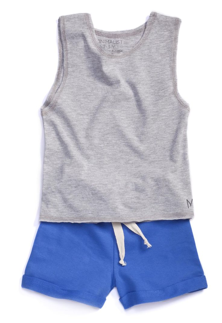 MINIMALIST - SUMMER #Grey&Blue Play-time look