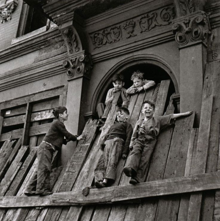 Children, Abandoned House, New York City, 1949, Photo By