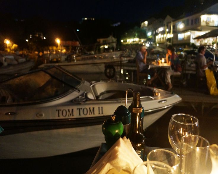 We highly recommend a romantic dinner on one of the piers in Agios (Saint) Stephanos, Corfu.