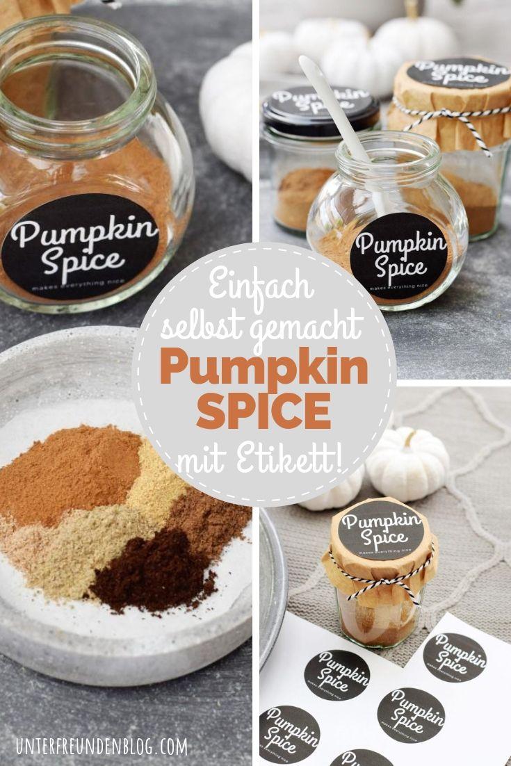 """Pumpkin Pie Spice, nur 5 Minuten selbst gemacht! Mit schickem Etikett nur für Euch """"Kürbisgewürz macht alles schön"""""""