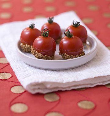 Tomates cerises au caramel et graines de sésame - les meilleures recettes de cuisine d'Ôdélices