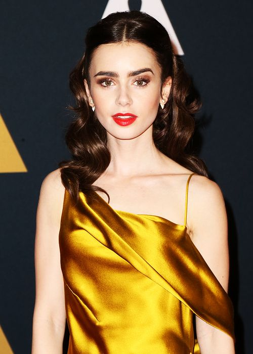 Actress Lily Collins attends the Academy of Motion Picture Arts and Sciences' 8th annual Governors Awards at The Ray Dolby Ballroom at Hollywood & Highland Center on November 12, 2016