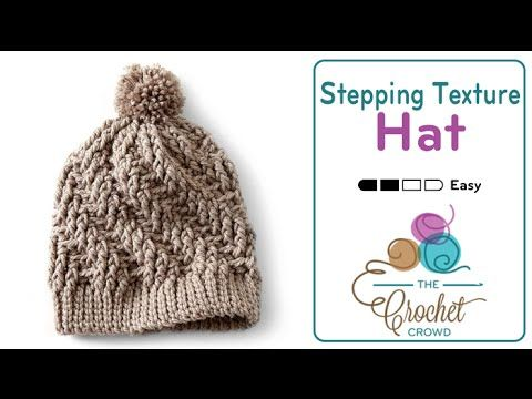 Learn how to crochet a Stepping Texture Crochet Hat. This hat is easy to make in about 2 - 3 hours, depending on your speed and how fast you caught onto the ...