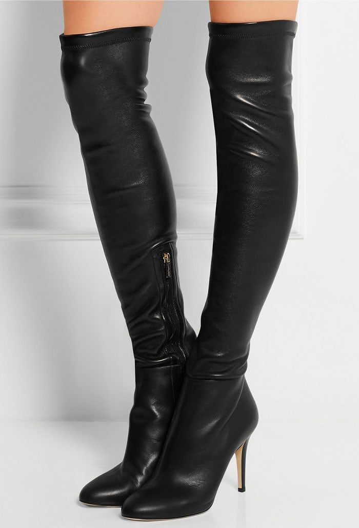 6668797159 Jimmy Choo 'Toni' Stretch-Leather Over-the-Knee Boots | Extreme ...