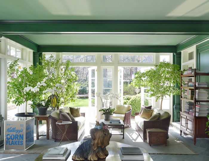 thomas jayne house for postwar art the sun room was updated with