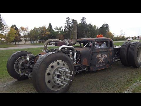 Cummins Twin Turbo Diesel Rat Rod. This wild Turbo Rat is bad-ass! - YouTube