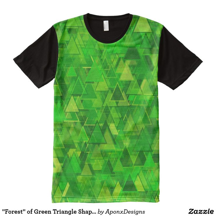 """Forest"" of Green Triangle Shapes Pattern"