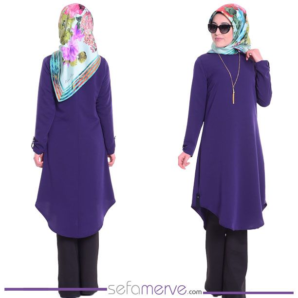 Tesettür Tunik WB 4695-28 Mor #sefamerve #tesetturgiyim #tesettur #hijab #tesettür