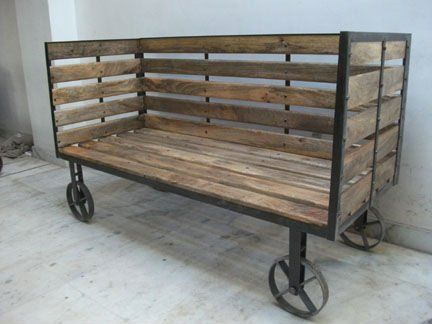 vintage industrial - I see this repurposed with cushions as a love seat (after being shored up, of course)