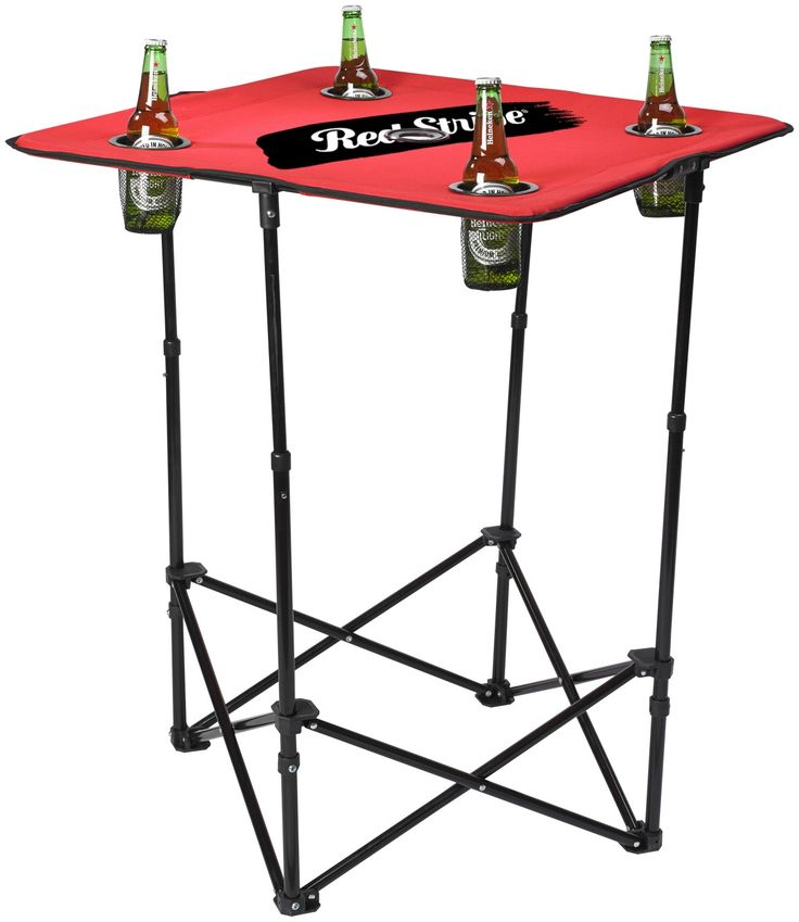 This exciting new table extends from 24¡¨ to a full 36¡¨ standing height. The 4 recess mesh pockets keep your beverages handy and leave extra room for dining or a friendly game of cards.