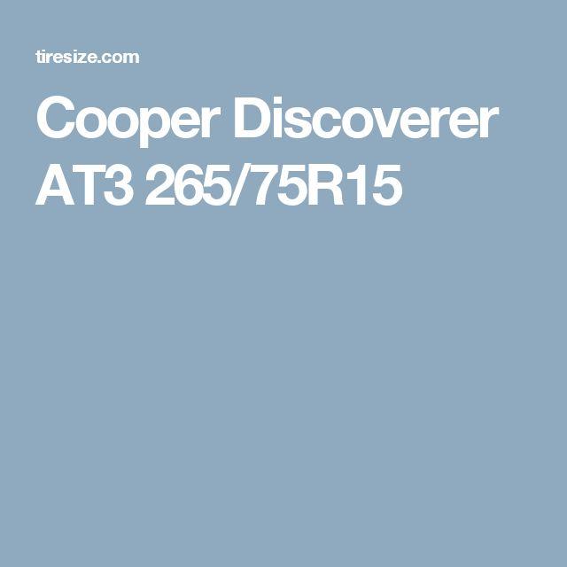 Cooper Discoverer AT3 265/75R15