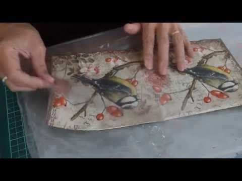 Cómo hacer símil trencadis con acetato - How to make faux trencadis on acetate - YouTube