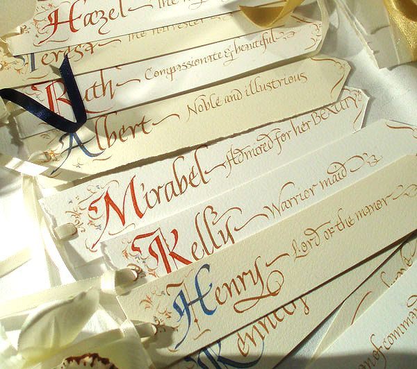 Beautiful idea - book mark favour and place card in one